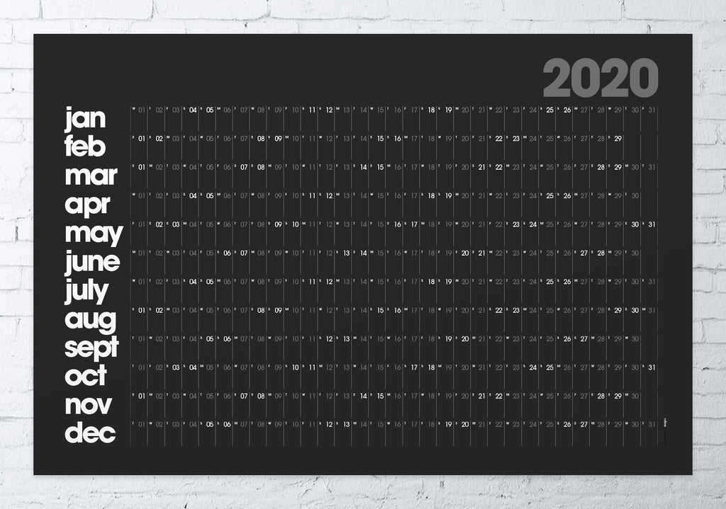 2020 wall planner LARGE (black)