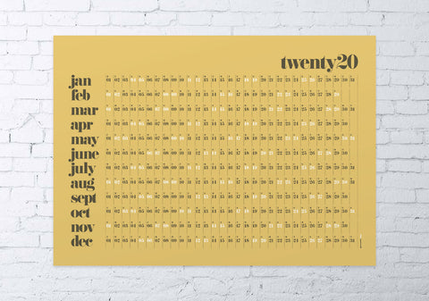 2020 wall planner classic (mustard)