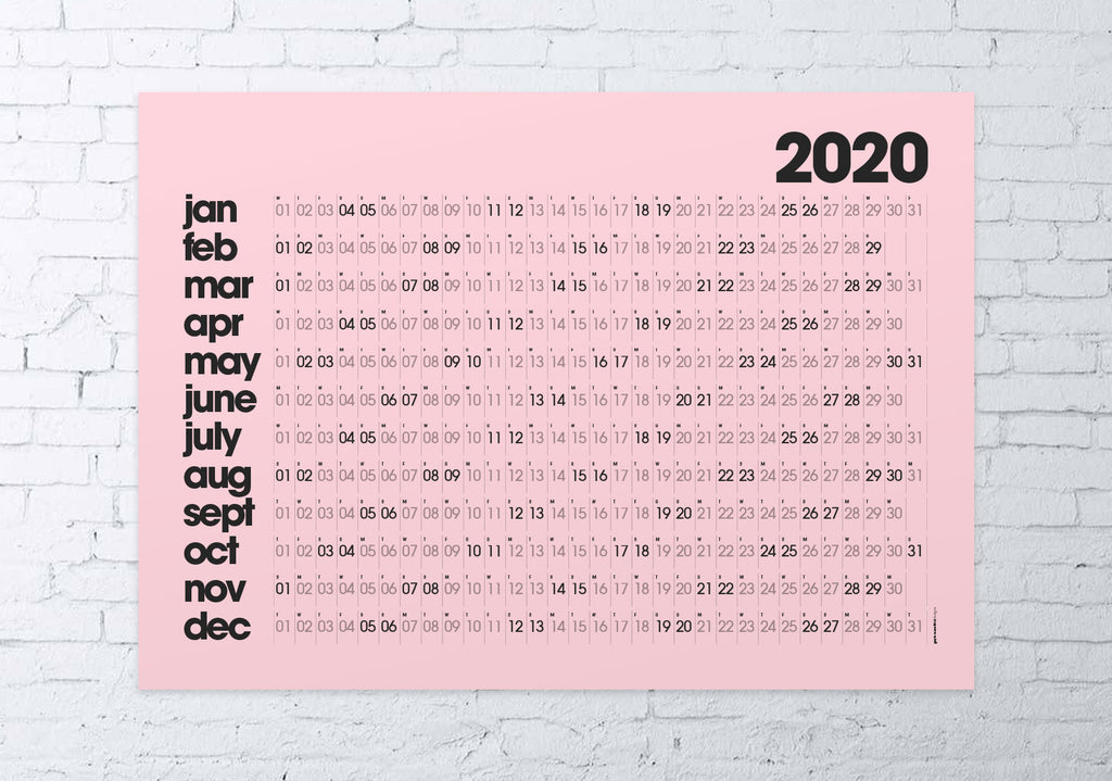 2020 wall planner (pink)