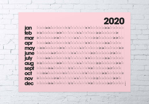 2020 wall planner LARGE (pink)