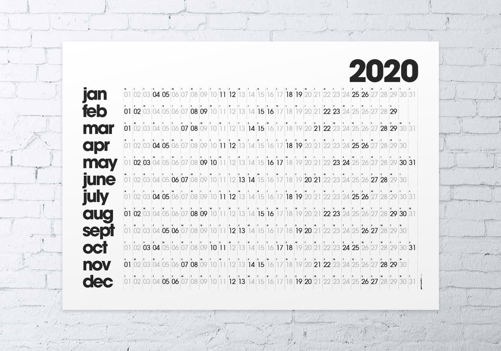 2020 wall planner (white)