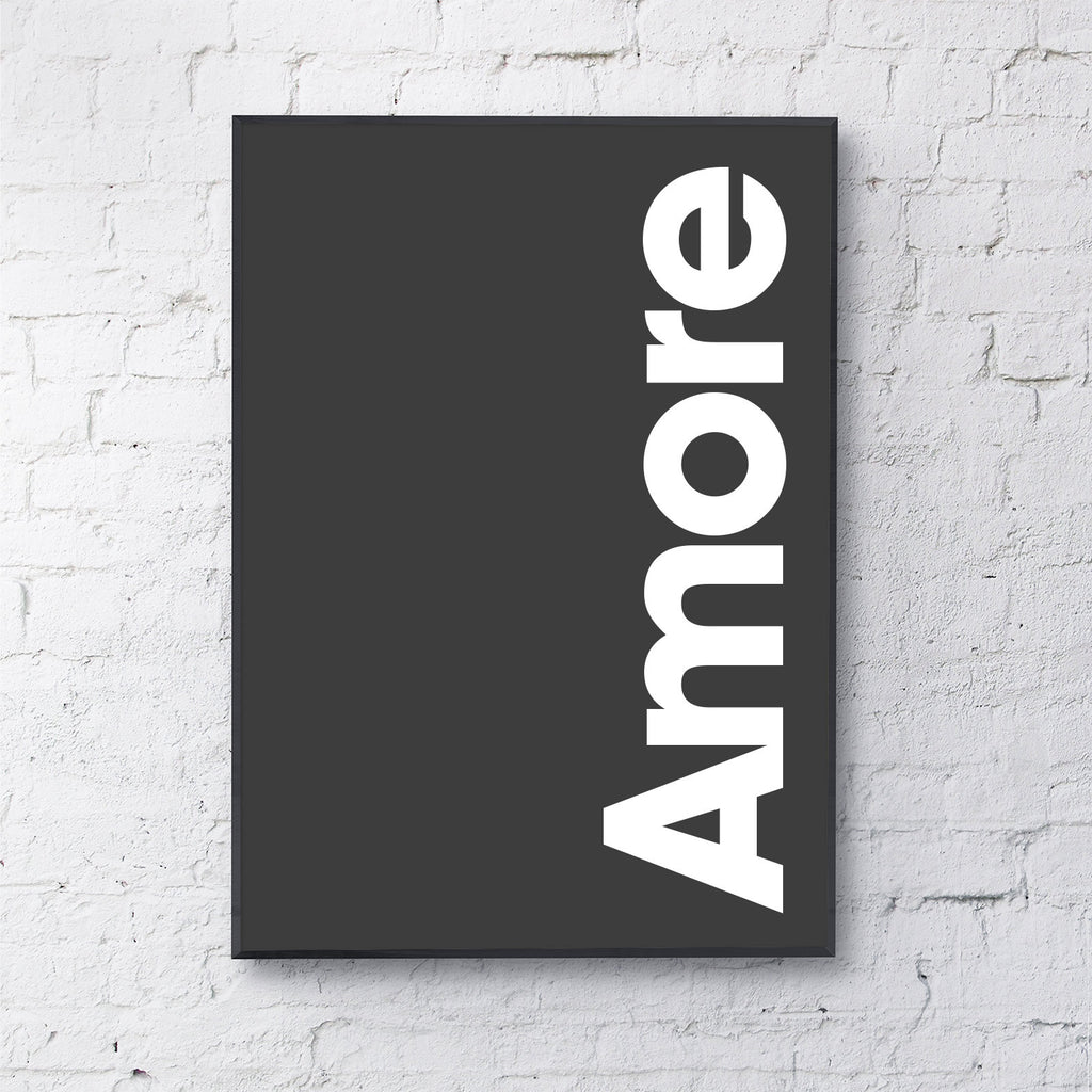 Amore (white on black)