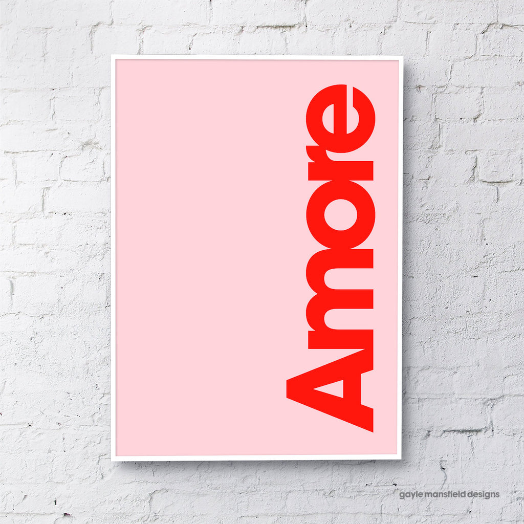 Amore (red on pink)
