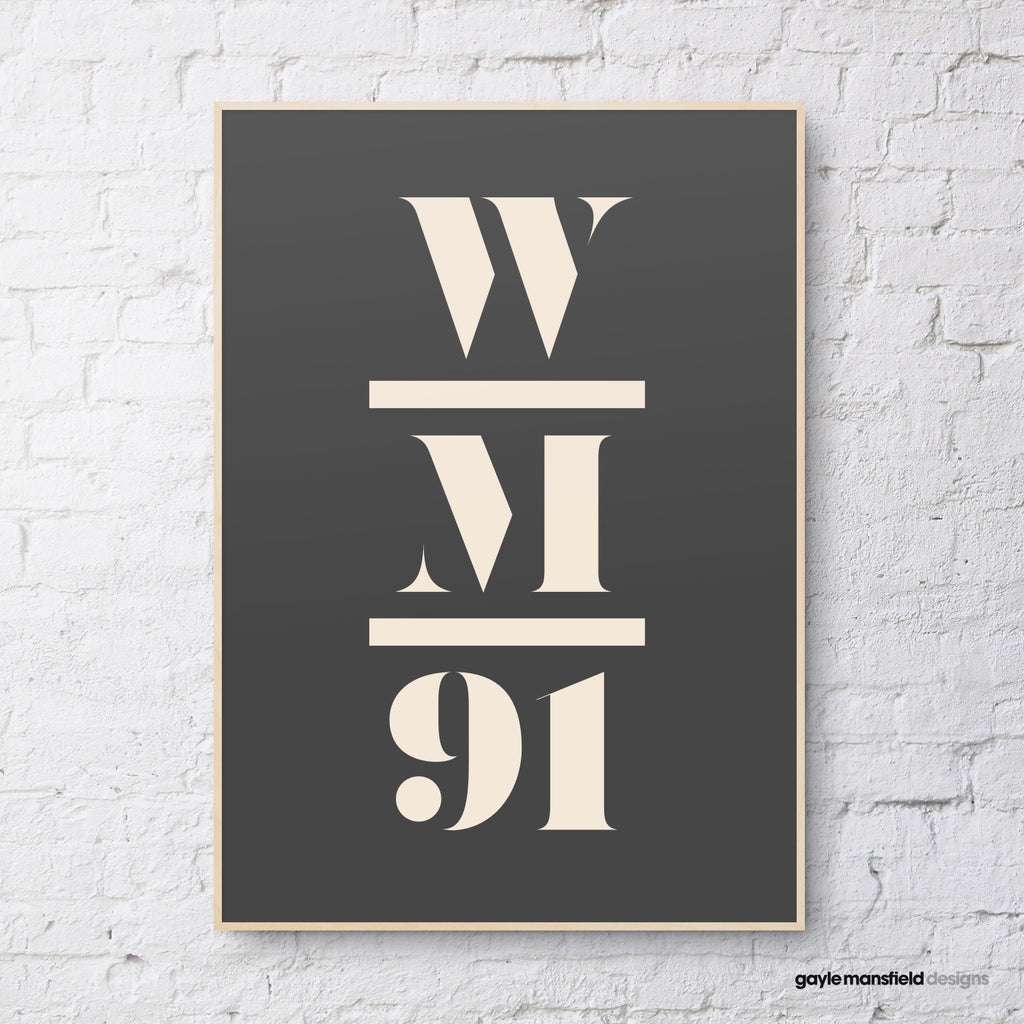 antique digit/letter triple layer (cream on black)