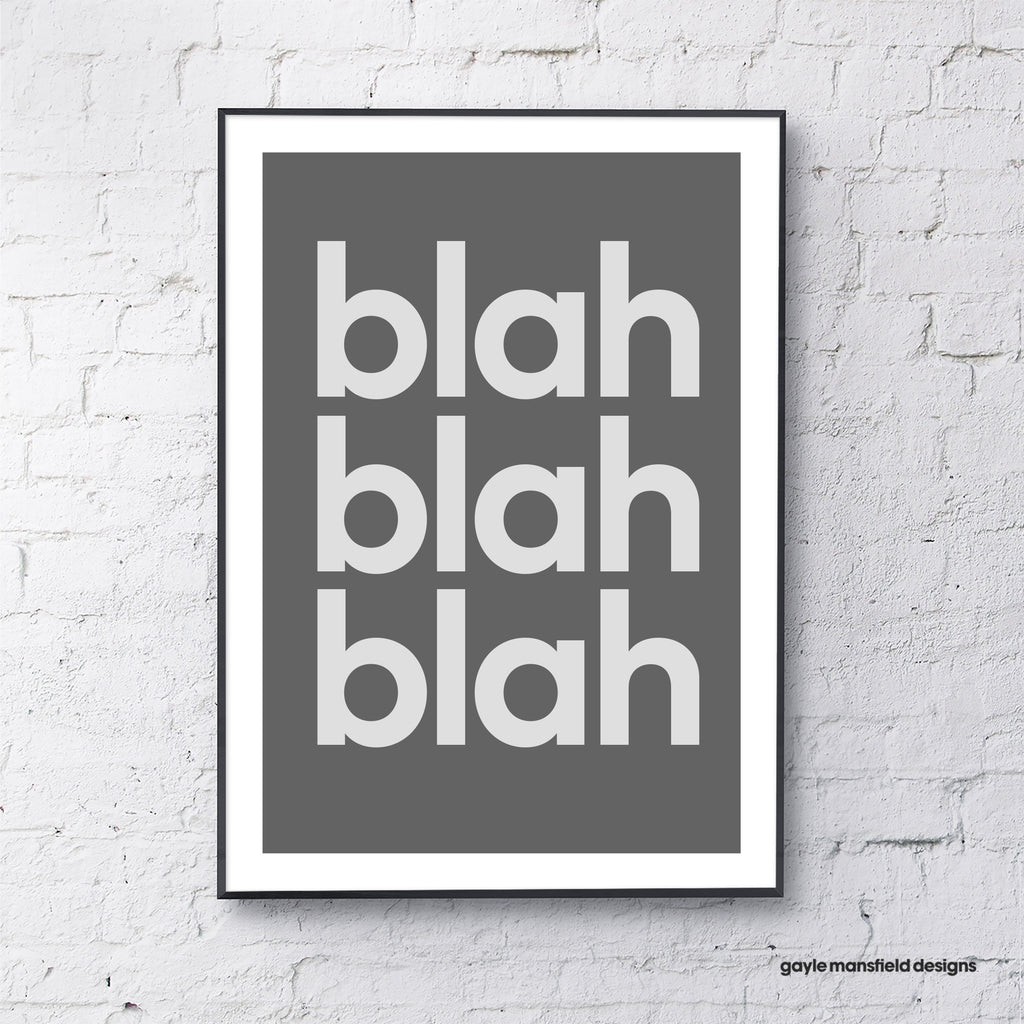blah blah blah (dark grey)