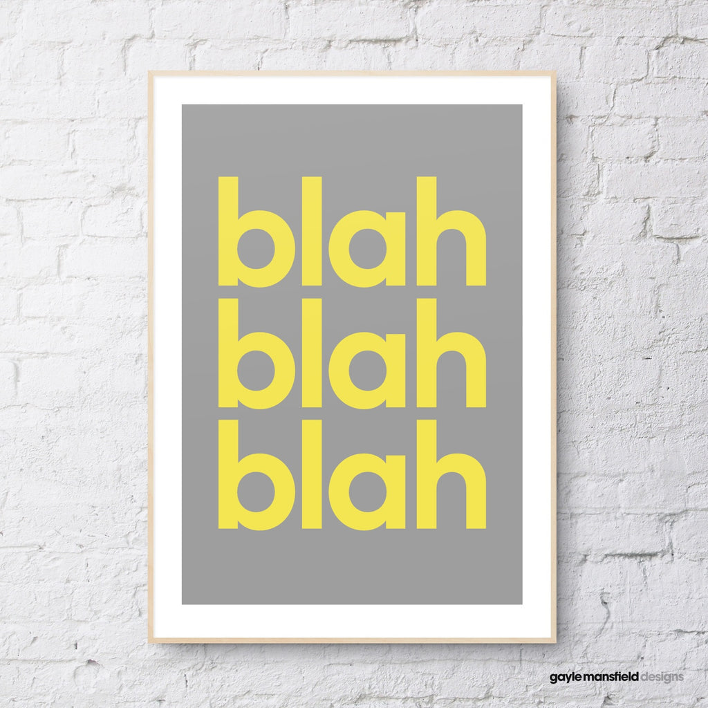 blah blah blah (grey/yellow)