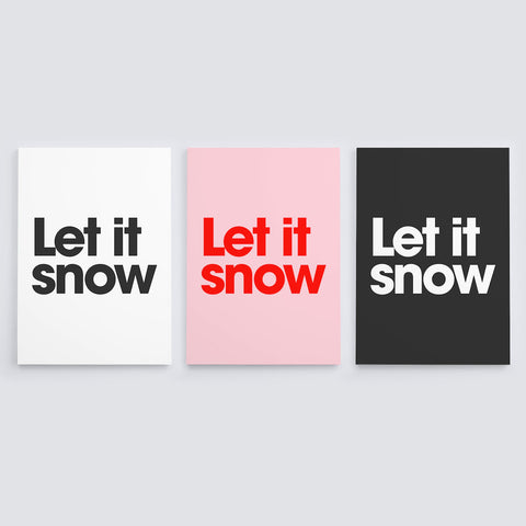 let it snow christmas cards (9 pack)