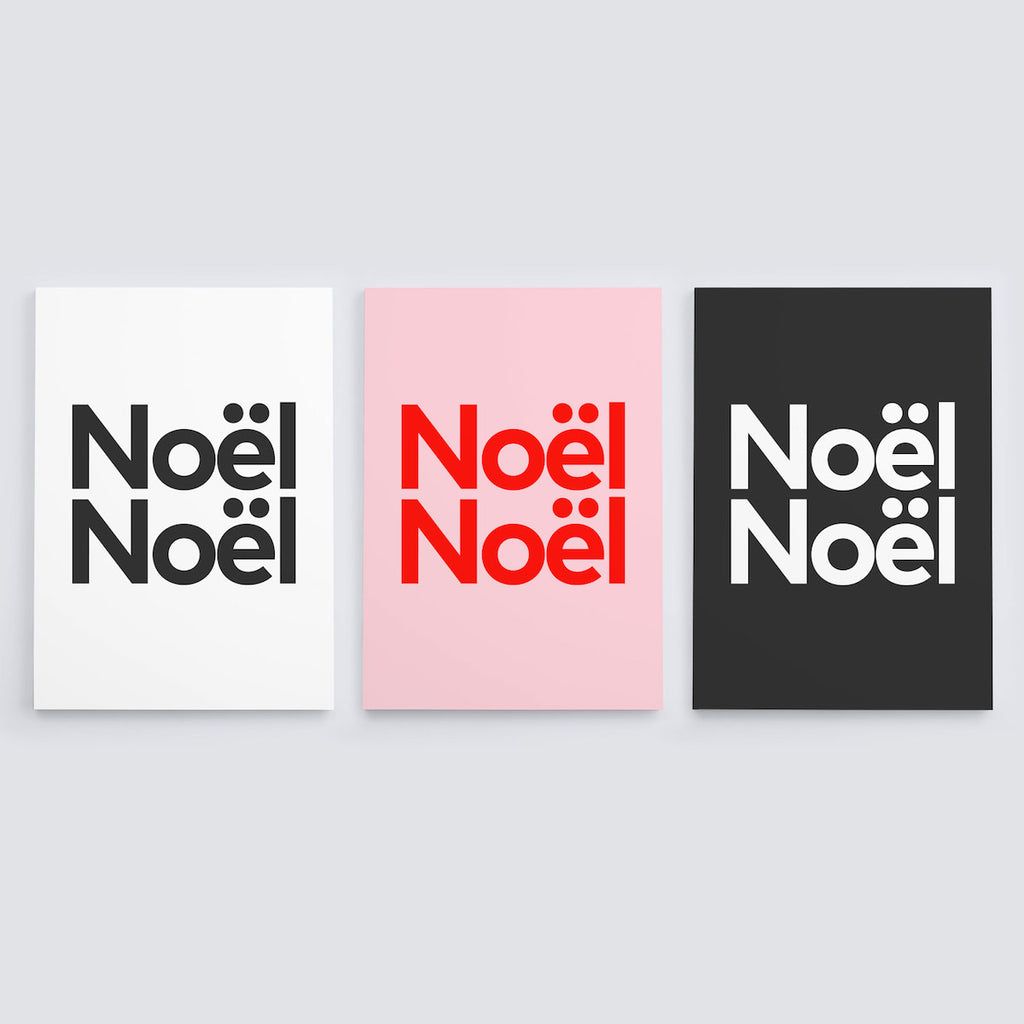 noël noël christmas cards (9 pack)