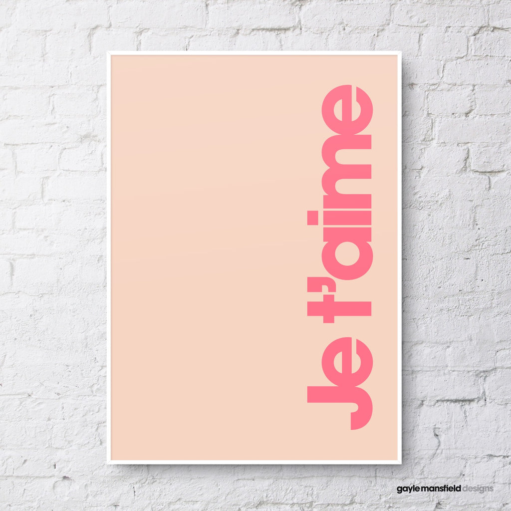 Je t'aime (coral pink)