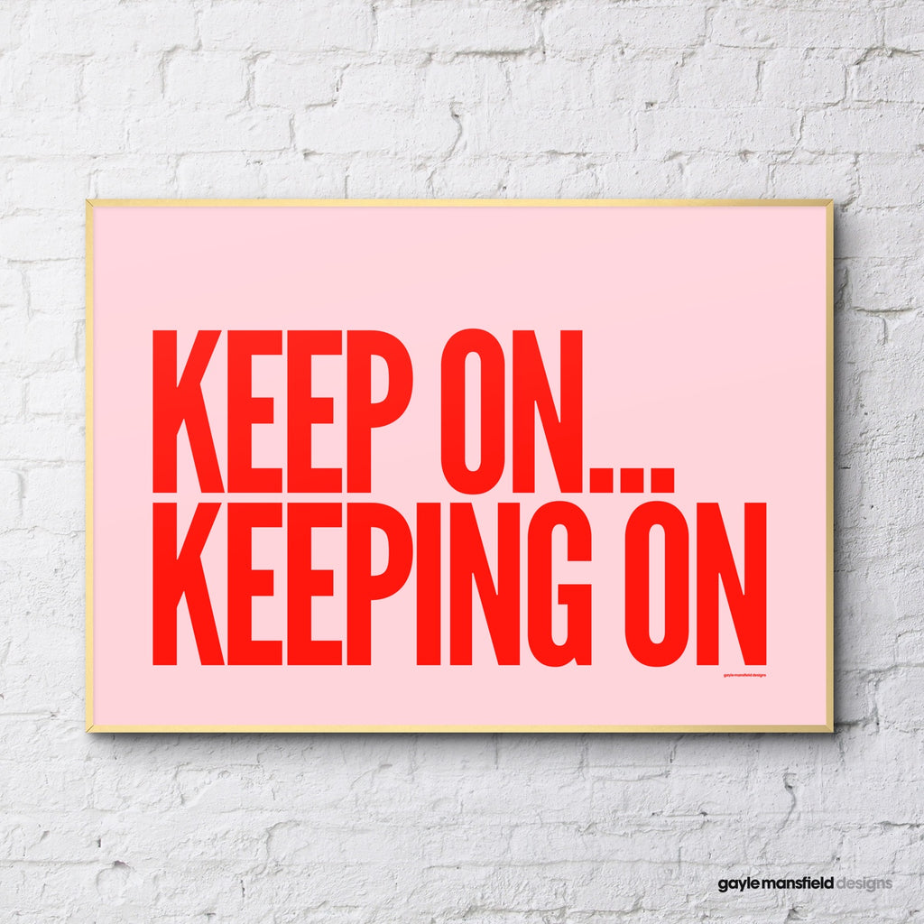 Keep on (red/pink)