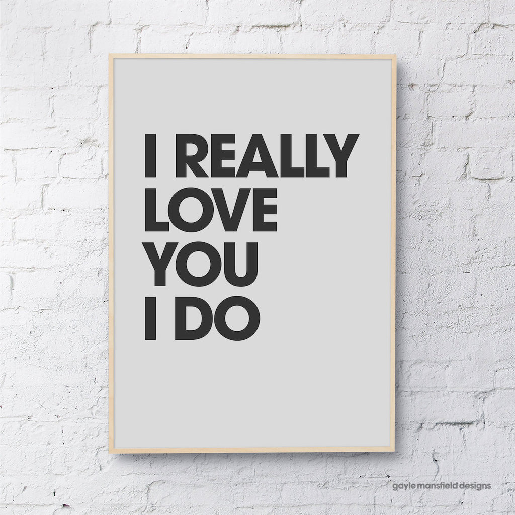 I really love you (grey/black)