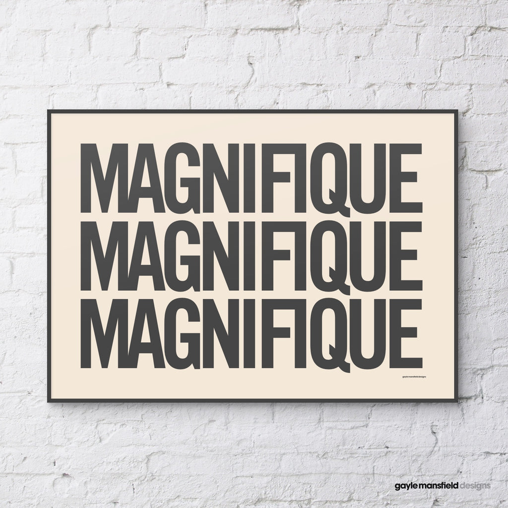Magnifique (black on cream)
