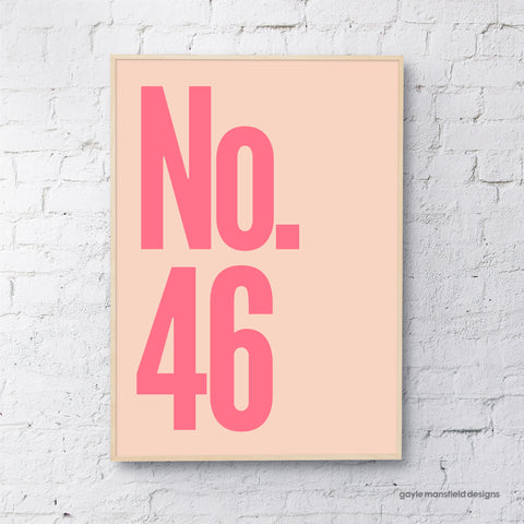 Number (Pink / Coral)
