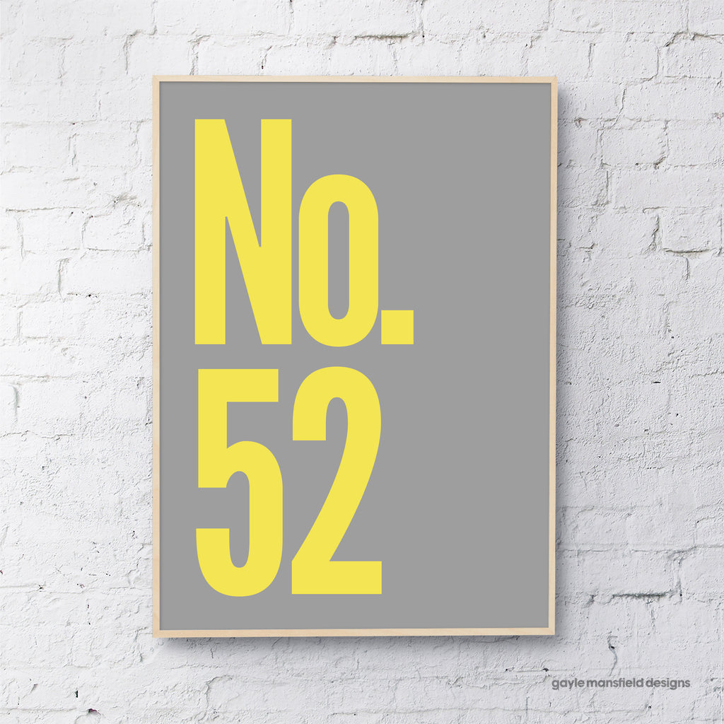 House Number (yellow on grey)