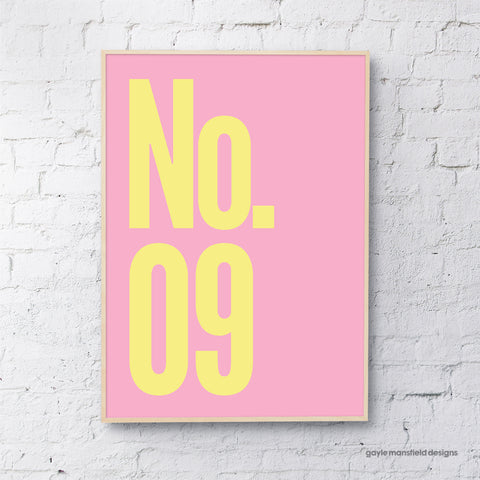 Number (Yellow / Pink)