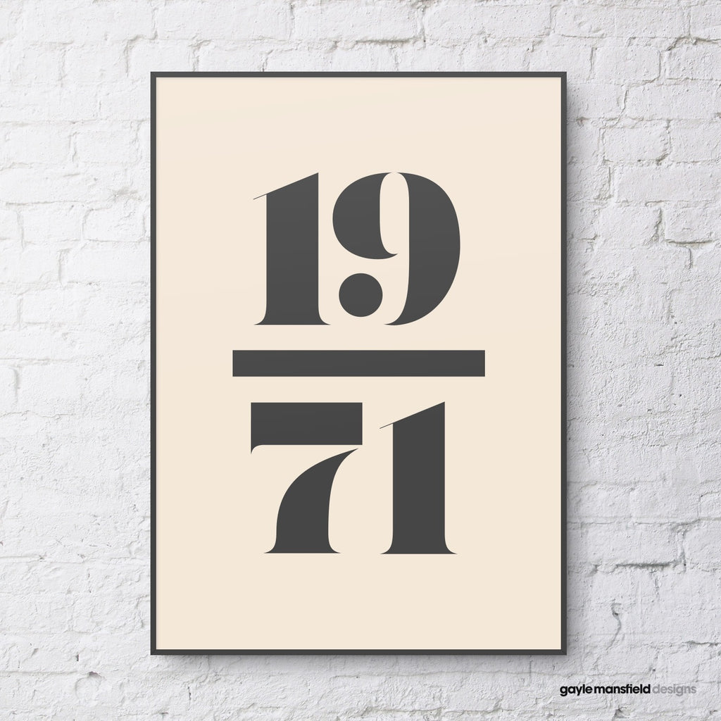 antique digit/letter (black on cream)