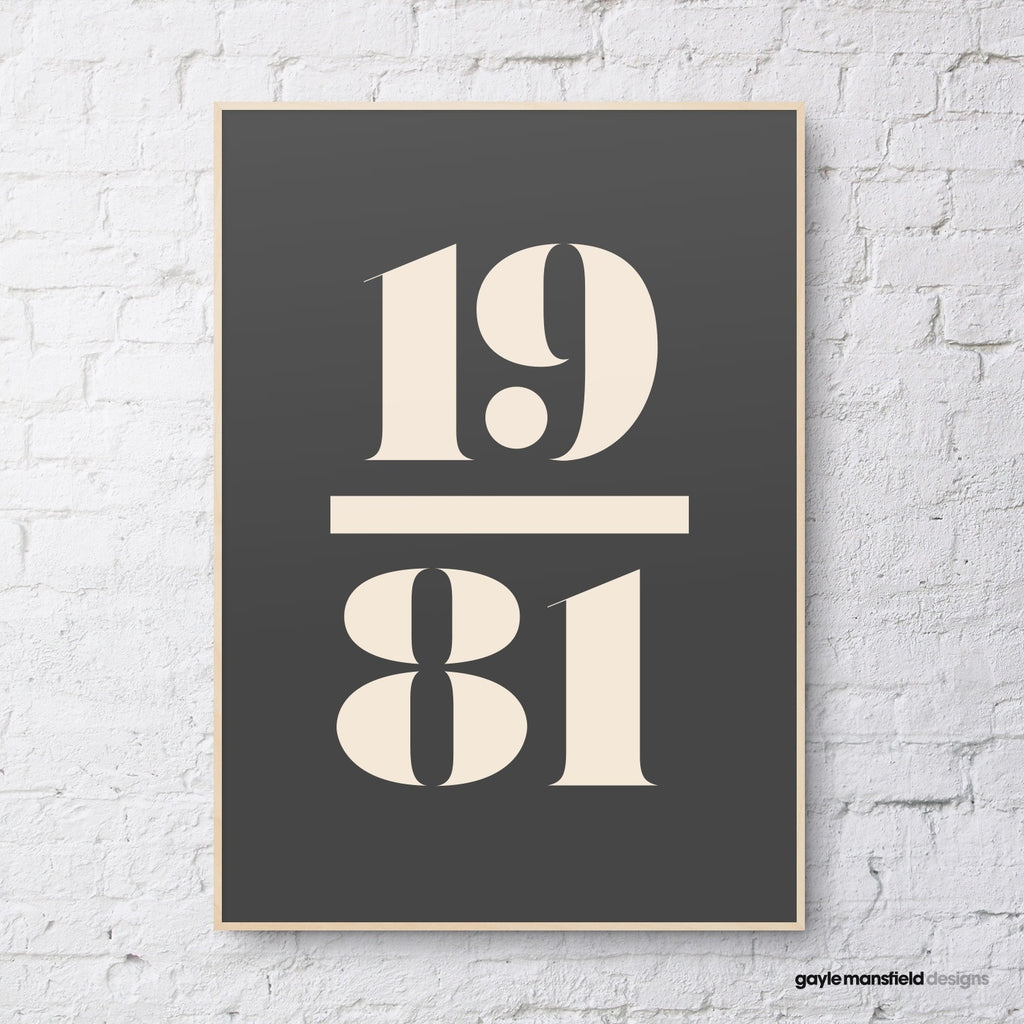 antique digit/letter (cream on black)