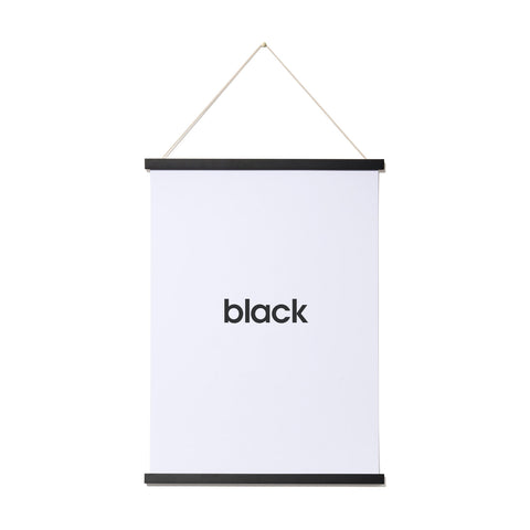 magnetic wooden print hanger (black)