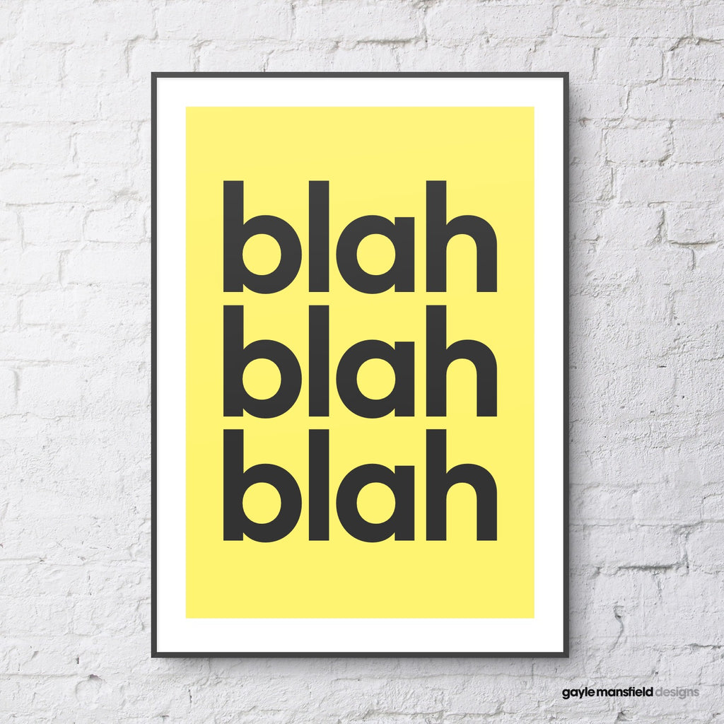 blah blah blah (yellow)