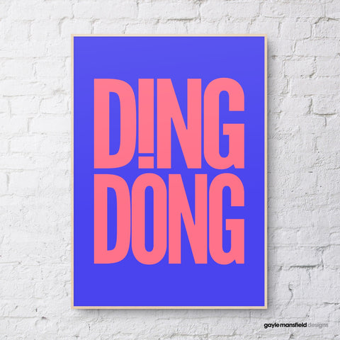 Ding Dong (bright blue/pink)