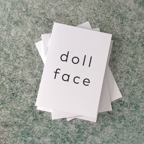 doll face card