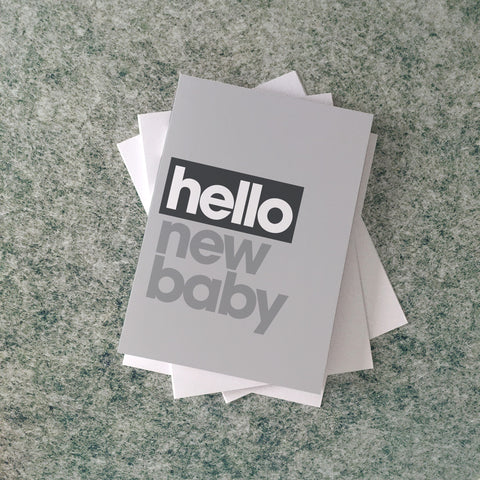 hello new baby card