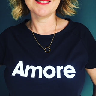 Neon marl x Gayle Mansfield AMORE t-shirt