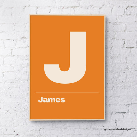 Letter ( orange - personalised)
