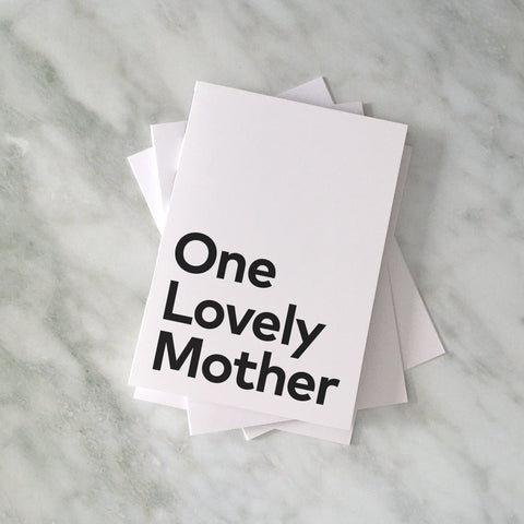 'One Lovely Mother' card