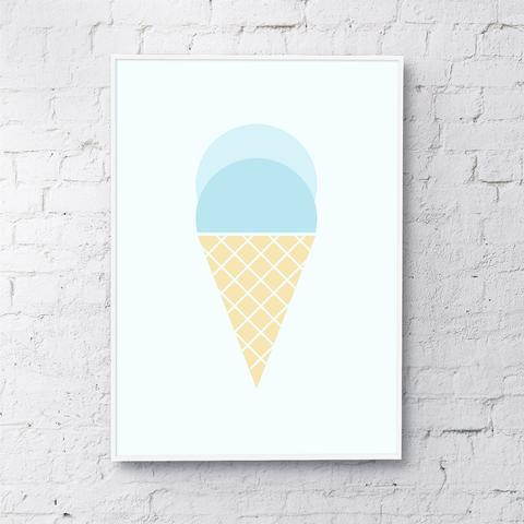 ice cream (blue)