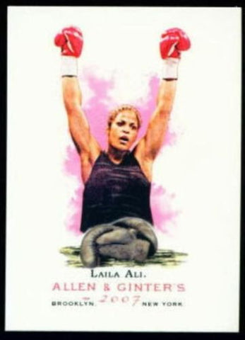 Allen & Ginter 2007 Laila Ali Card Muhammad Daughter - redrum comics