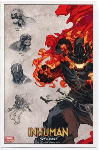 "Marvel Comics Inhuman INFERNO 10""x6.5"" Mini Poster SDCC 2014 Joe Madureira - redrum comics"
