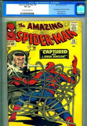 Amazing Spider-Man #25 1st Mary Jane 1965 CGC 4.0 Very Good - redrum comics