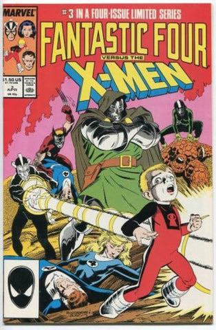 Fantastic Four VS The X-Men #3 VF+ 1987 Chris Claremont Wolverine Dr Doom - redrum comics