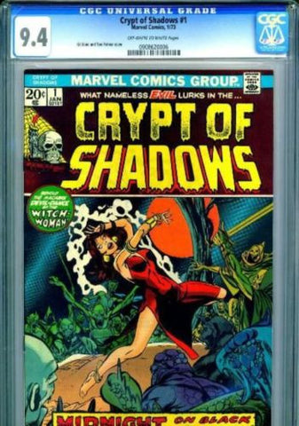 Crypt of Shadows #1 Marvel Comics 1973 CGC 9.4 Near Mint Horror