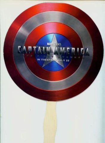 Captain America Shield Movie Hand Fan Promo SDCC 2011