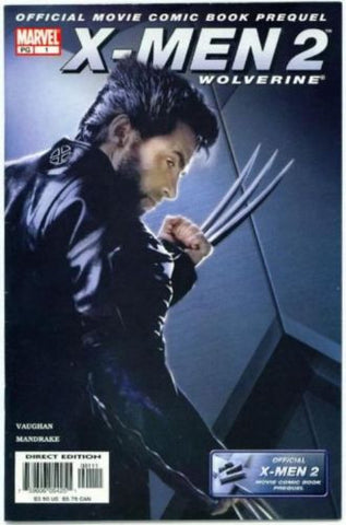 X-Men 2 the Movie Prequel Hugh Jackman Wolverine Cover - redrum comics