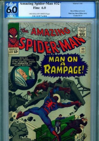 Amazing Spider-Man #32 1966 PGX 6.0 FINE NOT CGC - redrum comics