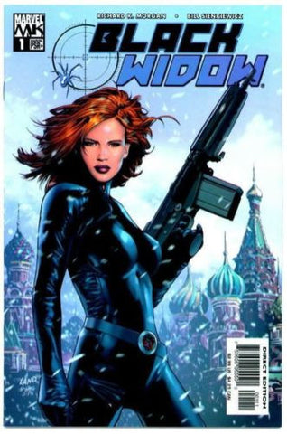Black Widow #1 Marvel Knights 2004 Iron Man Avengers VF Sexy Greg Land Cover