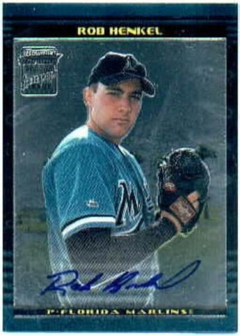 2002 Bowman Chrome Rob Henkel Auto Rookie Card - redrum comics