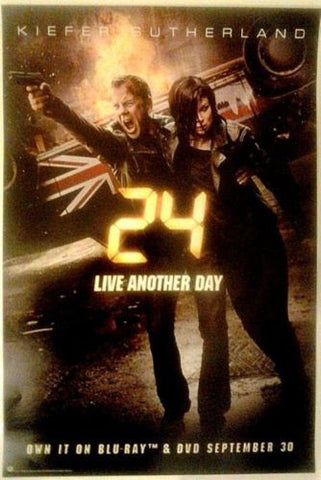 "24 LIVE ANOTHER DAY Promo FOX 13.5""x20"" TV Poster SDCC 2014 Kiefer Sutherland"