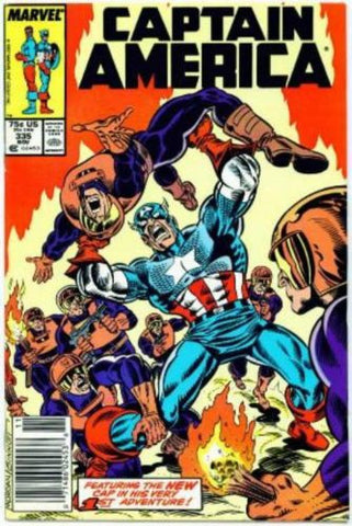 Captain America #335 NM 1987 1st New Cap Adventure Super Patriot - redrum comics