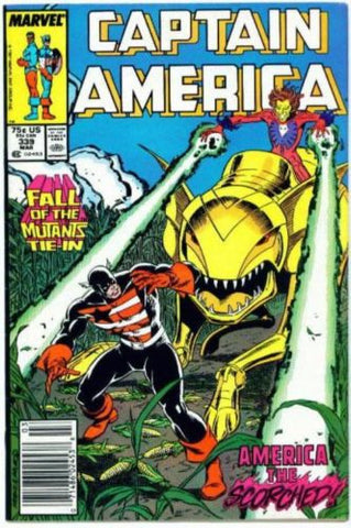 Captain America #339 NM 1988 Fall of the Mutants X-men Tie-In