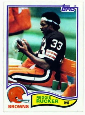 1982 Topps Reggie Rucker Cleveland Browns Card
