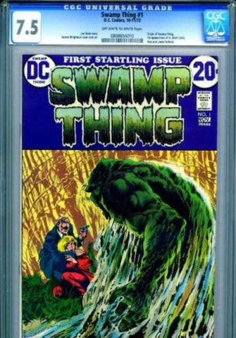 Swamp Thing #1 Bernie Wrightson CGC 7.5 DC Comics Very Fine 1972