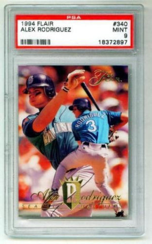 ALEX RODRIGUEZ 1994 Fleer Flair Rookie Card PSA 9 MINT Seattle Mariners