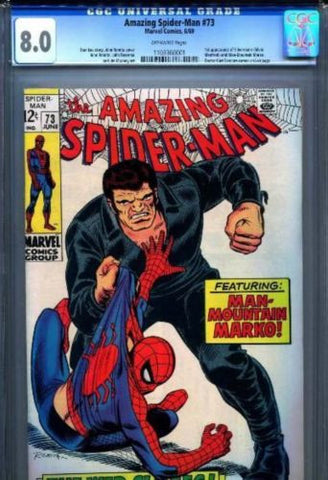 Copy of Amazing Spider-Man #73 1st Silvermane Man-Mountain Marko 1969 CGC 8.0 Very Fine