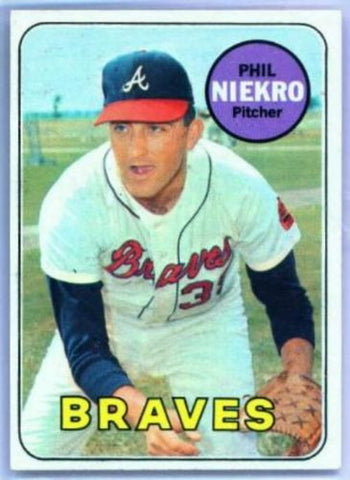1969 Topps PHIL NIEKRO #355 Atlanta Braves NICE!