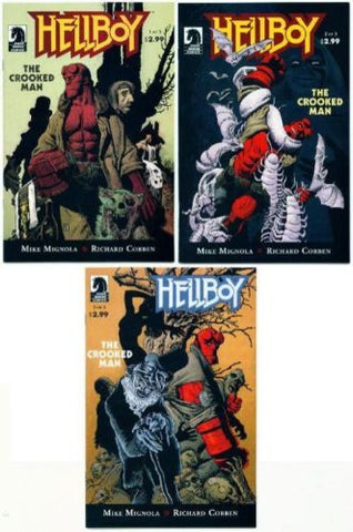 Hellboy The Crooked Man Issues #1 2 3 Set by Mike Mignola and Richard Corben - redrum comics