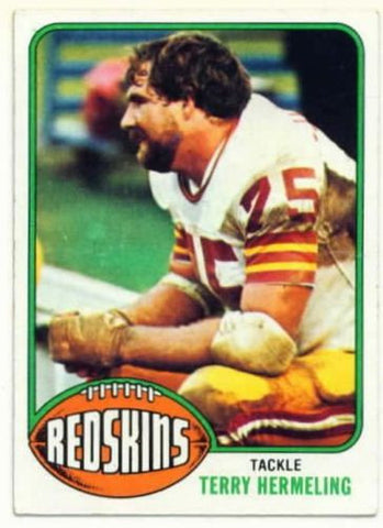1976 Topps Terry Hermeling Washington Redskins Card
